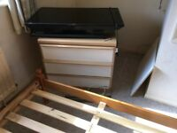 Small chest of drawers excellent condition phone number corrected