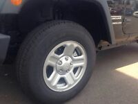 """16"""" rims&tires off a brand new 2015 Jeep Wrangler"""