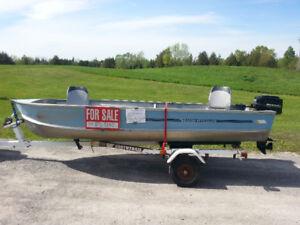 Fishing boat, motor & trailer