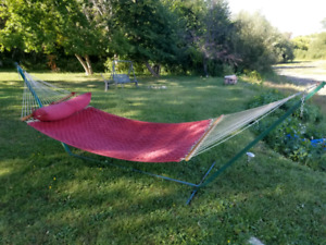 Canadian Tire hammock with stand