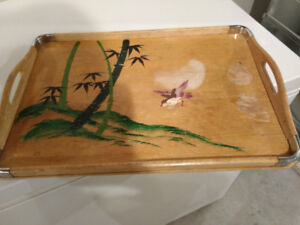 Antique Wood Tray