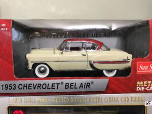 Chevrolet bel air 1953 rare diecast 1/18 Die cast