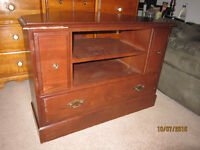 Solid Hardwood TV Stand For Sale