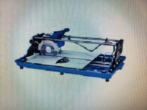 "7"" Sliding diamond tile saw."