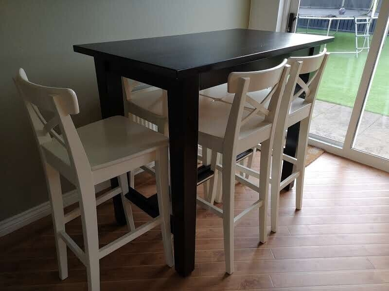Super Sold Ikea Stornas Bar Dining Kitchen Breakfast Table And 5 Ingolf Chairs Stools 60 O N O In Uphall West Lothian Gumtree Andrewgaddart Wooden Chair Designs For Living Room Andrewgaddartcom