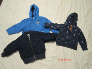 Boy's Jackets and Hoodie 12-18 Months