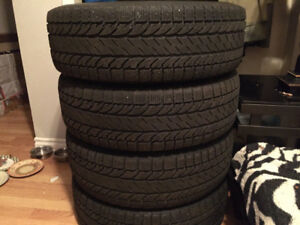 Four 225/65R17 Winter Tires