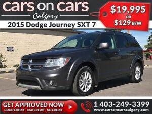 2015 Dodge Journey SXT 7 Pass w/Sunroof, DVD, BackUp Cam $129B/W
