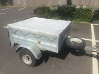 Larger galvanised tipping trailer + new spare wheel (bigger wheels)
