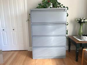 Filing cabinet - 4 drawer horizontal
