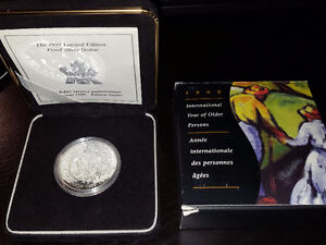 1999 Proof Silver Dollar Coin - International Year of Older Pers