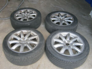 4 Lexus rims with TPMS on Michelin Energy P235/50 R18 tires