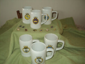 Frigate beer steins and collector pins