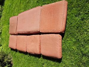 Patio cushion set $30, extra $25 3 large cushions