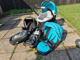 Oyster travel system, Maxi Cosi car seat, 2 Isofix bases