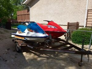 1999 and 1998 Arctic Cat Tigershark 770's and Trailer