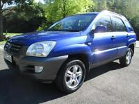 05/55 KIA SPORTAGE XE 2.0 5DR 4x4 HATCH IN MET BLUE WITH ONLY 78,000 MILES
