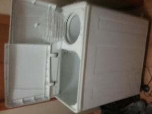 Apartment dual tub washer