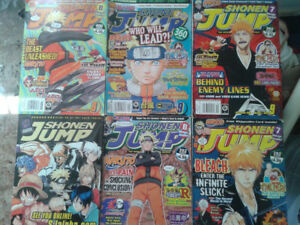 6 SHONEN JUMP Magazines, 4 with Cards
