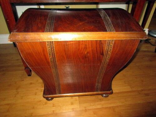 Antique Biedermeier toilette chest cherry wood inlays - Austria