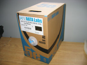 1,000Ft CAT5E Solid Bulk Cable 350-MHZ UTP Blue CMR PVC, Box