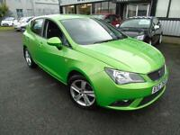 2013 Seat Ibiza 1.4 Toca - Green - Long MOT - Platinum Warranty!