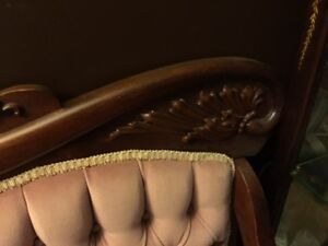 Beautiful Antique Settee and matching chair London Ontario image 3