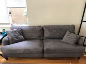 FOR SALE! Heather Grey Wayfair Couch - Excellent Condition