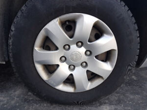 2 Eskay winter tires on steel rims