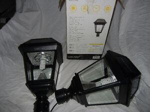 Gros lampadaire pied alluminium,lanternes extérieur del,lumière