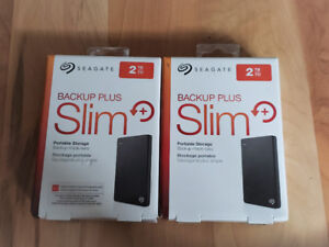 Seagate Backup Plus Slim 2TB Portable External Hard Drive *NEW*