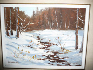 "Listed,Heinz V. Pundleider ""Creek In Merivale"" Original Oil 1978 Stratford Kitchener Area image 2"