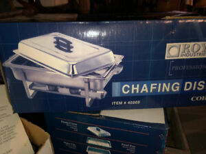 2  extra Large Rectangular S/S Chafing dishes:2fuel holders