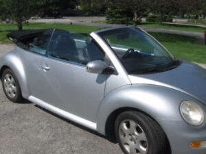 2003 Volkswagen New Beetle Convertible, low km's