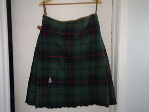 Davidson Tartan Kilt Military 48th Highanders of Canada ANTIQUE