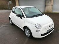 58 reg Fiat 500 1.2 POP 2 Door White £30 tax
