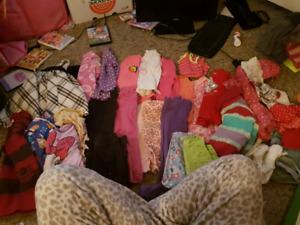Large lot of girls size 3-4 clothing