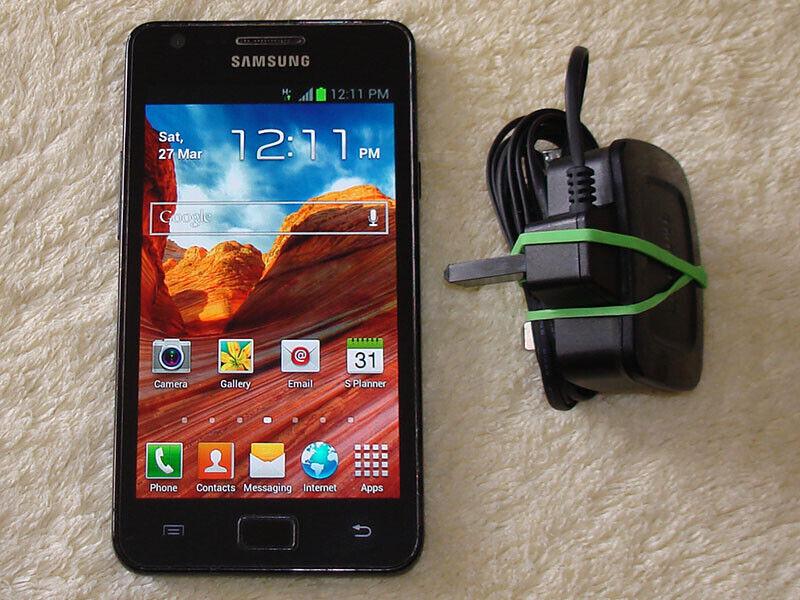 Android Phone - Samsung Galaxy S2 i9100 Black Unlocked WiFi Camera Phone