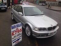2003 BMW 318 SE CI / ONLY 87000 MILES / FULL MOT & SERVICE / GREAT LOOKING COUPE / £1395!!!