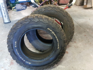 Bf Goodrich 4x4 tyres. Price is for the pair.