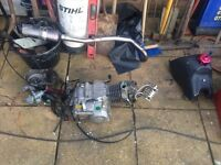 Stomp Welsh pit bike 140cc z40 cam engine exhaust loom and tank