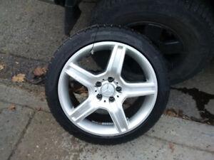 245 40 18 pirelli Sotozero winter tires on Mercedes benx wheels