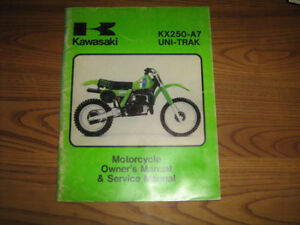 kawasaki kx 80 100 125 250 500 owner and service manual