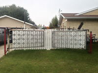 16 foot wide gate made of Iron and Aluminum