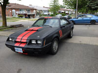 1985 MUSTANG COBRA GT WITH T-TOPS.$4000 OR TRADE FOR SPORT BIKE