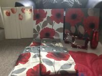 Next poppy curtains and pictures