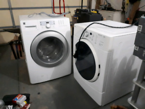 Kenmore front load washer/dryer pair.
