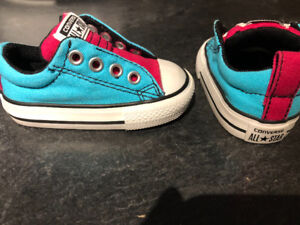 Size 3 Baby converse shoes for girls