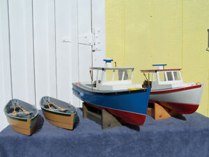 Wooden Cape Island Boat and Dory Models