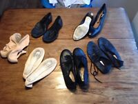 Selection of dance shoes 61/2 - 8